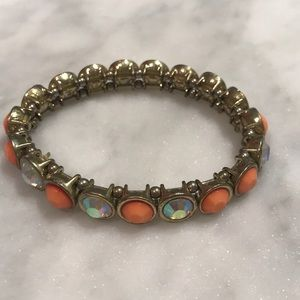 Belk Coral and Crystal Bracelet
